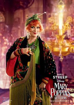 Meryl Streep is delightful in Mary Poppins Returns Disney Pixar, Walt Disney, Disney Movies, Hindi Movies, New Movies, Movies And Tv Shows, Movies Online, Emily Blunt, Ben Whishaw