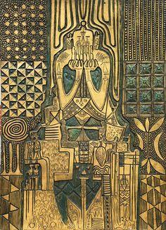 DYNAMIC AFRICA — Art by Bruce Onobrakpeya