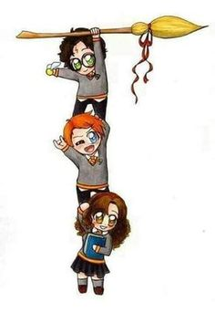 WallPotter: Harry Potter, Ron Weasley e Hermione Granger Fanart Harry Potter, Harry Potter Hermione, Arte Do Harry Potter, Harry Potter Cartoon, Cute Harry Potter, Harry Potter Pictures, Harry Potter Drawings, Harry Potter Tumblr, Harry Potter Wallpaper