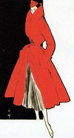 René Gruau, иллюстрации 1950-х годов