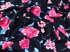 Floral Print Viscose Dress Fabric   Fabric   Dress Fabrics   Minerva Crafts Minerva Crafts, Viscose Dress, Gingham, Printing On Fabric, Cotton Fabric, Floral Prints, Fabrics, Chiffon, Dresses