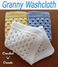 Easy Crochet Granny Washcloth Crochet Stricken , Crochet Granny Washcloth If you are looking for gift ideas, this granny washcloth could be it, just add a bar of soap. Mode Crochet, Crochet Home, Crochet Granny, Crochet Gifts, Easy Crochet, Crochet Scrubbies, Crochet Dishcloths Free Patterns, Washcloth Crochet, Wash Cloth Crochet Pattern
