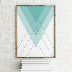 Geoemtric abstract watercolor print abstract print for Minimal art resumen