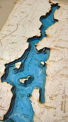 Priest Lake Laser Cut Lake Made In Sandpoint by MakerPointStudios