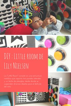 Little room de Lily Nielsen. Pedagogía activa de Lily Nielsen para niños con minusvalía, deficiencia, visual,... Active, Diy, Rooms, Vision Therapy, Side Panels, Small Rooms, Bebe, Child Room, Mirrors
