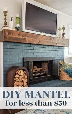 Rustic Mantle, Fireplace Facing, Rustic Fireplace Mantels, Diy Mantel, Fireplace Shelves, Wood Mantels, Home Fireplace, Faux Fireplace, Fireplace Remodel