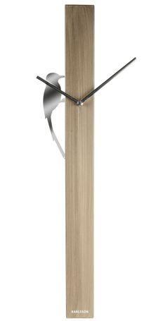 Veggklokke | Woodpecker Tube - kinu.no , nettbutikk , unik, design, interiør, barnerom, knagger, wallstickers, puter, leker, gavetips, julegaver
