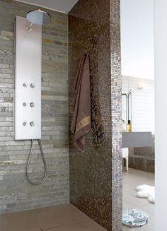 54 trendy bathroom shower mosaic walk in - Modern Diy Bathroom, Shower Panels, Home, Trendy Bathroom, Bathroom Shower Tile, Bathroom Tile Diy, Bathroom Design, Bathroom Shower Panels, Trendy Home