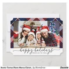 Rustic Tartan Photo Merry Christmas Navy Lettering Holiday Card Christmas Photo Cards, Christmas Quotes, Christmas Greetings, Holiday Cards, Tartan Christmas, Merry Little Christmas, Merry Christmas Typography, Rustic Blue, Lettering