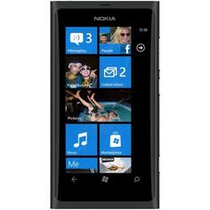 "Nokia Lumia 800 Black  Windows Phone, 3.7"" touchscreen"