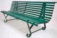 Banc jardin tout métal-Dimensions : Long 1950 x larg 630 x Haut 1130 mm.