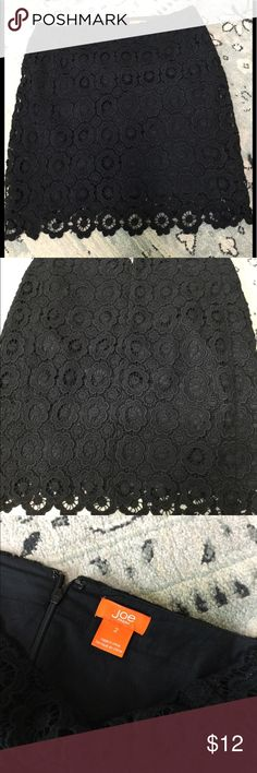 be6ff94390a2d Black lace skirt The lace is thick, almost like crochet . Fully lined, back