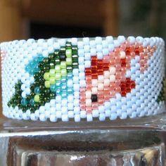 Dancing Fish Tea Light Cover / Napkin Ring | Bead-Patterns