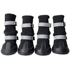 KINDOYO Waterproof Walking Paw Protector Pet Dog Shoes Boots Breathable Knee Boots Foldable Shoes Reflective at Night Set of 4 (S, Black) >>> Click image to review more details. (This is an affiliate link) #Cats