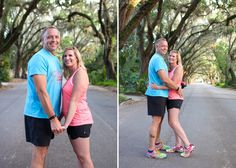 St. Augustine, FL Running Inspired Engagement Session ©becphotography