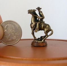 """JIM POUNDER """"ROUGH RIDER"""" 1:12 SCALE ACTUAL BRONZE STATUE COLLECTOR QUALITY"""