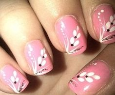 nail art designs Your manicure makes party of your overall image, therefore it is extremely important to devo. Fancy Nails, Pink Nails, Cute Nails, Pretty Nails, Pink Manicure, Simple Nail Art Designs, Easy Nail Art, Nail Art Mauve, Romantic Nails