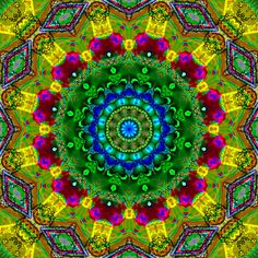 Lemon Lime Kaleidoscope by 'Ate my crayons' AKA Tia Lush Mandala Design, Mandala Art, Hippie Art, Ancient Symbols, Psychedelic Art, Fractal Art, Sacred Geometry, Clipart, Doodle Art