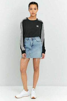 BDG 5-Pocket Notched Denim Mini Skirt