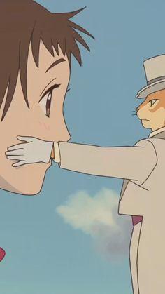 Studio ghibli,the cat returns,Hiroyuki Morita Gato Anime, Manga Anime, Anime Art, Studio Ghibli Art, Studio Ghibli Movies, Hayao Miyazaki, Personajes Studio Ghibli, Blue Anime, Animation