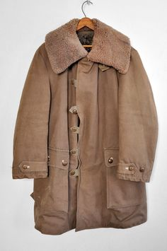 VTG 1940's Swedish Military Field Coat Jacket M1909, WWII, Shearling Lined, BANE 2 • $295.00