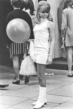 In Chelsea, August, 1967 ... classic 60s a go-go look ... And those are real Go Go boots.