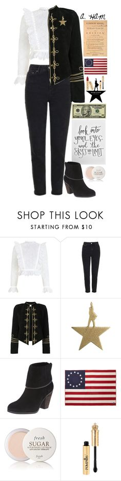 """""""Alexander Hamilton"""" by biscuitatlas ❤ liked on Polyvore featuring Zimmermann, Topshop, Yves Saint Laurent, Vince Camuto, Faribault Woolen Mill Co. and Fresh"""