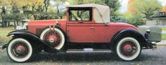 Verna's first car, a 1928 LaSalle convertible, bought used in 1932. She's very proud of it.