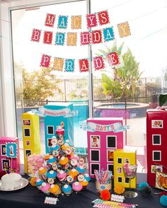 Cute/inexpensive idea for the buildings- may have to do something similar for our upcoming Busytown party...