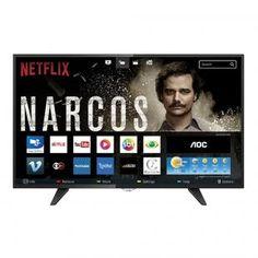 """Smart TV LED 43"""" AOC LE43S5970 Full HD com 2 USB e 3 HDMI - com as melhores condições você encontra no Magazine Ofertamix. Confira!"""