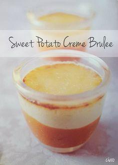 This is an elegant alternative to pumpkin pie  |  Sweet Potato Creme Brulee