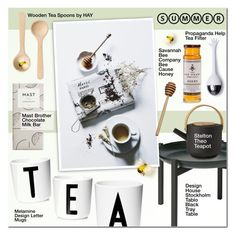 """""""Afternoon Tea Party"""" by anna-anica ❤ liked on Polyvore featuring interior, interiors, interior design, home, home decor, interior decorating, Design House Stockholm, Design Letters, Stelton and HAY"""