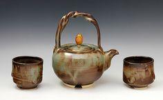"""""""Teapot 49""""  Ceramic Tea Set  Created byRon Mello   One of a Kind"""