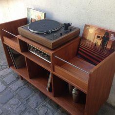 Vinyl Record Storage Furniture, Vinyl Record Shelf, Record Player Cabinet, Record Storage Box, Stereo Cabinet, Vinyl Storage, Lp Storage, Diy Storage Headboard, Diy Storage Cabinets