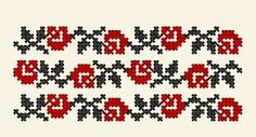 motiv in cruce floare Celtic Cross Stitch, Cross Stitch Rose, Cross Stitch Flowers, Embroidery Stitches, Embroidery Patterns, Hand Embroidery, Beading Patterns, Cross Stitch Patterns, Palestinian Embroidery