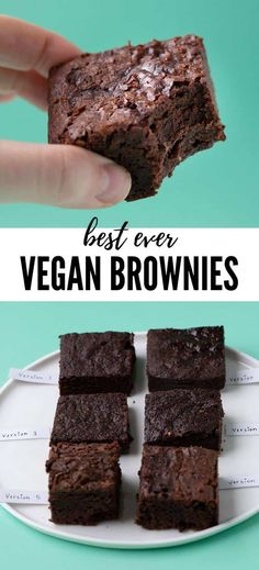 Fudge Vegan, Fudgy Vegan Brownies, Dairy Free Brownies, Vegan Cake, Egg Less Brownies, Easy Gluten Free Desserts, Vegan Dessert Recipes, Brownie Recipes, Chocolate Recipes