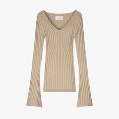 How to Achieve a Minimalist Wardrobe | Vogue 10 Item Wardrobe, Winter Wardrobe, Merino Wool Sweater, Ribbed Sweater, Camel Style, Brown Leather Sandals, Minimalist Wardrobe, Rolled Hem, Fast Fashion