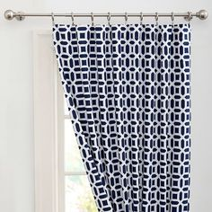 Peyton Blackout Drape | PBteen, Royal Navy 52 x 108 $99 per panel