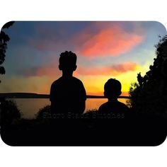 Two boys and a sunset by Carrie Anthony, via Behance