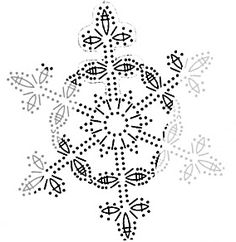 Crochet christmas doily snowflake ornaments Ideas for 2020 Crochet Star Patterns, Crochet Snowflake Pattern, Crochet Pillow Pattern, Crochet Amigurumi Free Patterns, Crochet Snowflakes, Granny Square Crochet Pattern, Crochet Diagram, Crochet Motif, Crochet Doilies