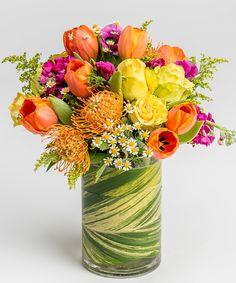 vibrant Spring flower arrangement