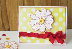 Stitched Flower Card