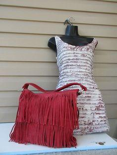 f79ccfb25cda44 Tignanello Fridge women purse Hand Bag Red Suede New #Tignanello #Tote  Womens Purses,