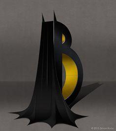 Superhero Themed Alphabets - Batman