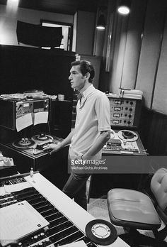 Genius Steve Cropper of the R&B band Booker T. & The MG's in the control booth at Stax Records on August 8, 1968 in Memphis, Tennessee.