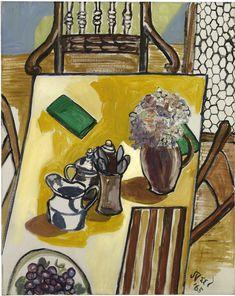 """ALICE NEEL - """"Still Life (Breakfast Table)"""" (1965)"""