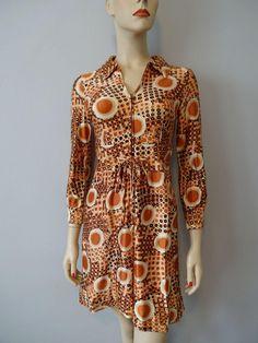 Mod Mini Dress Vintage 1960s Rayon Graphic Print Polka Dots  $36  https://www.rubylane.com/item/676693-CLO17-149/Mod-Mini-Dress-Vintage-1960s-Rayon?search=1