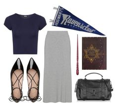 """""""ravenclaw // contest entry"""" by rmdannatt ❤ liked on Polyvore featuring WearAll, Kate Spade, Proenza Schouler, harrypotter, ravenclaw and contestentry"""
