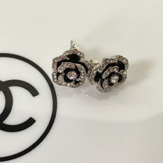 Pretty Chanel crystal camellia flower earrings Really pretty crystal camellia flower earrings. These are not Chanel I just posted here for exposure.  trades offers please CHANEL Makeup Brushes & Tools