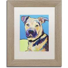 Trademark Fine Art Tag Canvas Art by Pat Saunders-White, White Matte, Birch Frame, Size: 16 x 20, Yellow